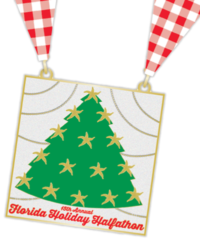 holiday half marathon medal
